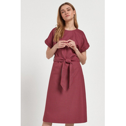 Next Midikleid Mittellanges Kleid mit Gürtel rosa 96