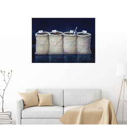 Posterlounge Wandbild, Kaffeesäcke, 1990 80 cm x 60 cm