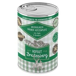 (5,31 EUR/kg) Hofgut Breitenberg Wildgulasch Räuber Hotzenplotz mit Apfel und Brokkoli 400 g - 12 Stück