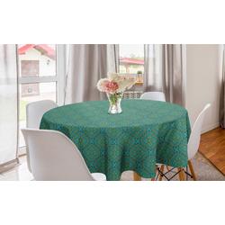 Abakuhaus Tischdecke Kreis Tischdecke Abdeckung für Esszimmer Küche Dekoration, orientalisch Muster