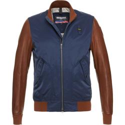 Blauer USA Rockwell Jacke, blau-braun, Größe S