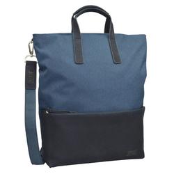Jost Rucksack Bergen + Leather blau S - 36 cm x 41 cm x 12 cm