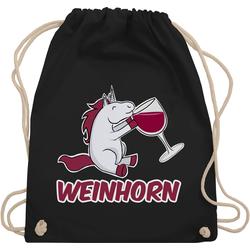 Shirtracer Turnbeutel Weinhorn - Einhörner - Turnbeutel