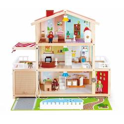 Hape Puppenhaus Puppen-Villa, inkl. Puppenmöbel