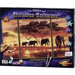 Schipper Malen nach Zahlen - Elefanten-Karawane Triptychon