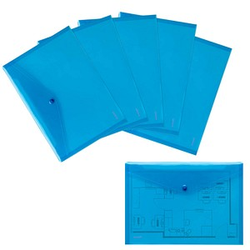 10 Dokumententaschen blau glatt