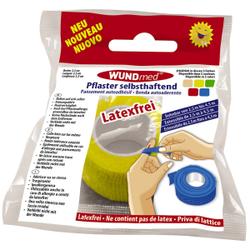 WUNDmed® Wundversorgung Pflaster, selbsthaftend, Flexibles Wundpflaster ohne Lösungsmittel, Breite: 2,5 cm