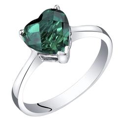 Romantischer Verlobungsring aus 585 Gold mit Smaragd in Herzform Loopy