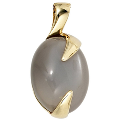 JOBO Kettenanhänger, oval 585 Gold mit Mondstein