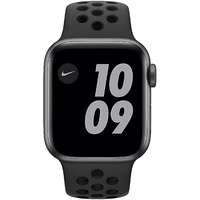 Apple Watch Series 6 Nike GPS 40 mm Aluminiumgehäuse Space Grau, Nike Sportarmband anthrazit/schwarz