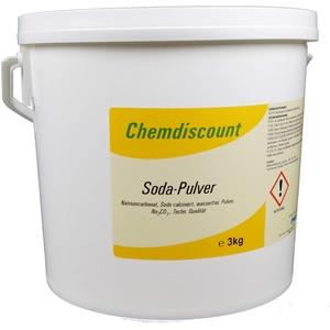 Chemdiscount 3kg Soda Pulver (Waschsoda Natriumcarbonat Na2CO3 Soda leicht), techn. Qualität
