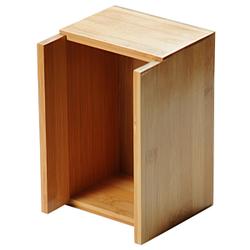 Kesper Serviettenspender Besteckkasten, Behälter für Besteck und Servietten, Maße (H x B x T): 18 x 12 x 12 mm