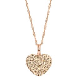 Amor Kette mit Anhänger Herz, 9207855, mit Kristallglassteinen