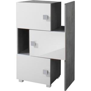 Schildmeyer Schieberegal Quadra, stapelbar, Badregal grau Badregale Regale