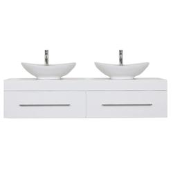 Emotion Waschtisch Badmöbel mit Aufsatzwaschbecken Doppelwaschtisch