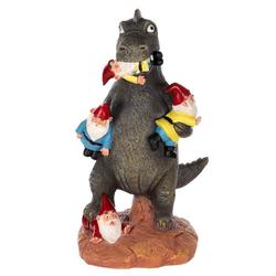 BIRENDY Dekofigur Birendy Figur, Dinosaurier, Zwerg, Gartenzwerg Gartenwichtel Deko Zwerg Wichtel