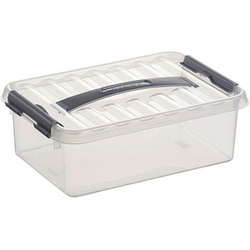 sunware Q-line Aufbewahrungsbox 4,0 l transparent 30,0 x 20,0 x 10,0 cm