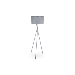 relaxdays Stehlampe Dreibein Lampe grau 51 cm x 51 cm x 150 cm