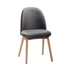 Hübsch Stuhl Samt 48x48xh84 cm Dunkelgrau