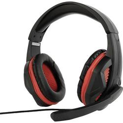 Gembird GHS-03 Gaming Headset 3.5mm Klinke schnurgebunden Over Ear Schwarz, Rot