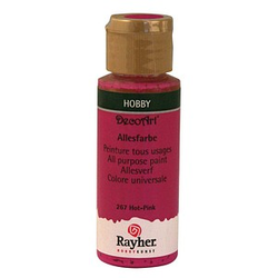 Rayher Allesfarbe Acrylfarben hot pink 59,0 ml, 1 St.