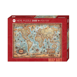 HEYE Puzzle Puzzle The World, 2000 Teile, Puzzleteile