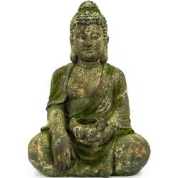 NOOR LIVING Buddhafigur Buddha, sitzend mit Kerzenhalter (1 Stück)