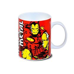 LOGOSHIRT Tasse mit tollem Helden-Print Marvel Comics - Iron Man rot