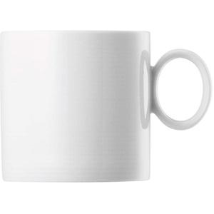 Thomas - Becher mit Henkel - Riesige Auswahl - Henkelbecher Mugge Humpen Haferl Tasse Kaffeetasse Frühstückstasse (Loft Weiß, 4)