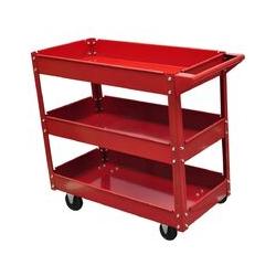 Helloshop26 - Chariot servante d'atelier charge 100 kg 3 bacs porte outils garage atelier bricolage
