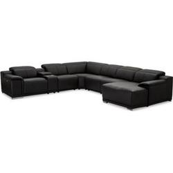 Alyssa Kunstleder Sofa U-Form rechts Wohnlandschaft Wohnzimmer Couch Garnitur