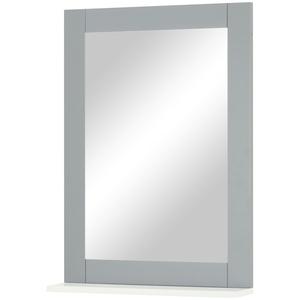 uno Spiegel mit Ablage ¦ grau ¦ Maße (cm): B: 50 H: 70 T: 12 » Möbel Kraft