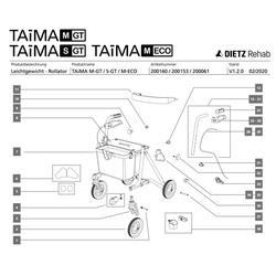 33 - Dietz Bremsklotz inkl. Bolzen, Feder TAiMA M-GT