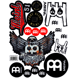 Meinl Logo Sticker Sheet A4 mit 17 Stickern