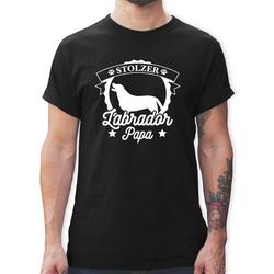 Shirtracer T-Shirt Stolzer Labrador Papa - Hunde - Herren Premium T-Shirt - T-Shirts hunde tshirt labrador M