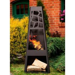 dobar Feuerstelle Design XL, Gartenkamin, BxLxH: 48x30,5x124 cm