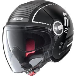 Nolan N21 Visor Runabout Jet helm, zwart-grijs, M