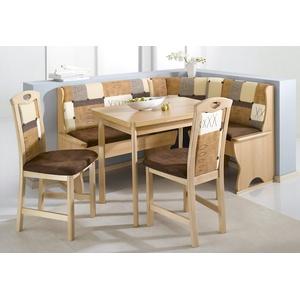 SCHÖSSWENDER Eckbankgruppe Köln, (Set, 4 St.), Eckbank ist umstellbar, mit Truhe beige Eckbankgruppen Tische