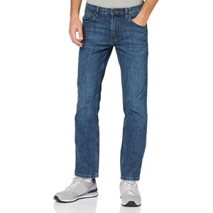 Wrangler Herren Straight Jeans, Blau (Authentic Blue), 35W / 34L