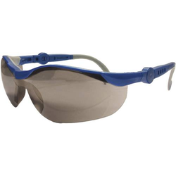 Upixx L+D 26752 Schutzbrille verspiegelt Blau, Grau DIN EN 166-1
