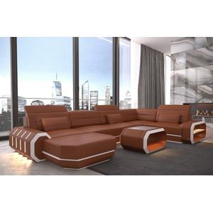Sofa Dreams Sofa Roma, U Form braun
