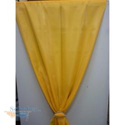 Deko Stoff Gardine Vorhang Organza uni mandarine gelb transparent Reststück 6,5 m