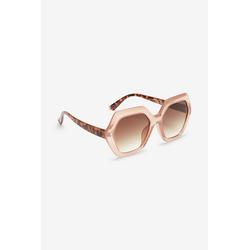 Next Sonnenbrille Sechseckige Sonnenbrille mit breitem Rahmen