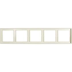 Jung 5fach Rahmen LS 990 Creme-Weiß LS985W
