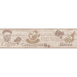 A.S. Création Bordüre Only Borders, strukturiert, Holz, Kaffee, Küche