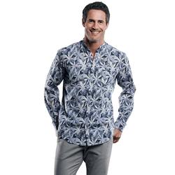 Strukturiertes Palmenhemd Engbers Saphirblau