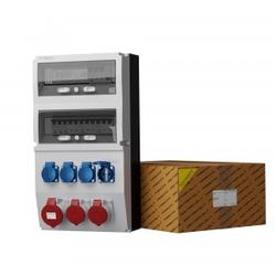 Stromverteiler eXT-S/FI 32A 2x16A 4x230V Stromzähler Doktorvolt 0809