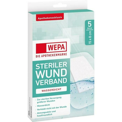 WEPA Wundverband wasserdicht 15 x 8cm steril