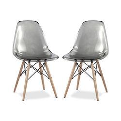 Premium Deswick Stuhl - Pack von 2 Grau
