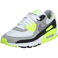 Nike Men's Air Max 90 white/volt/black/particle gray 42